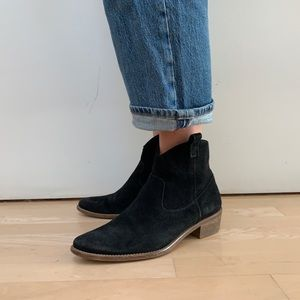Madewell 1937 ankle western point boots suede